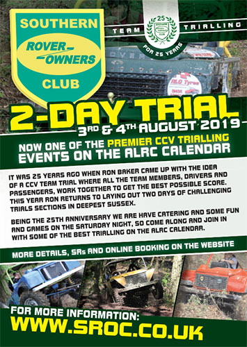 25th Southern Rover Owners Club 2-Day CCV Team Trial