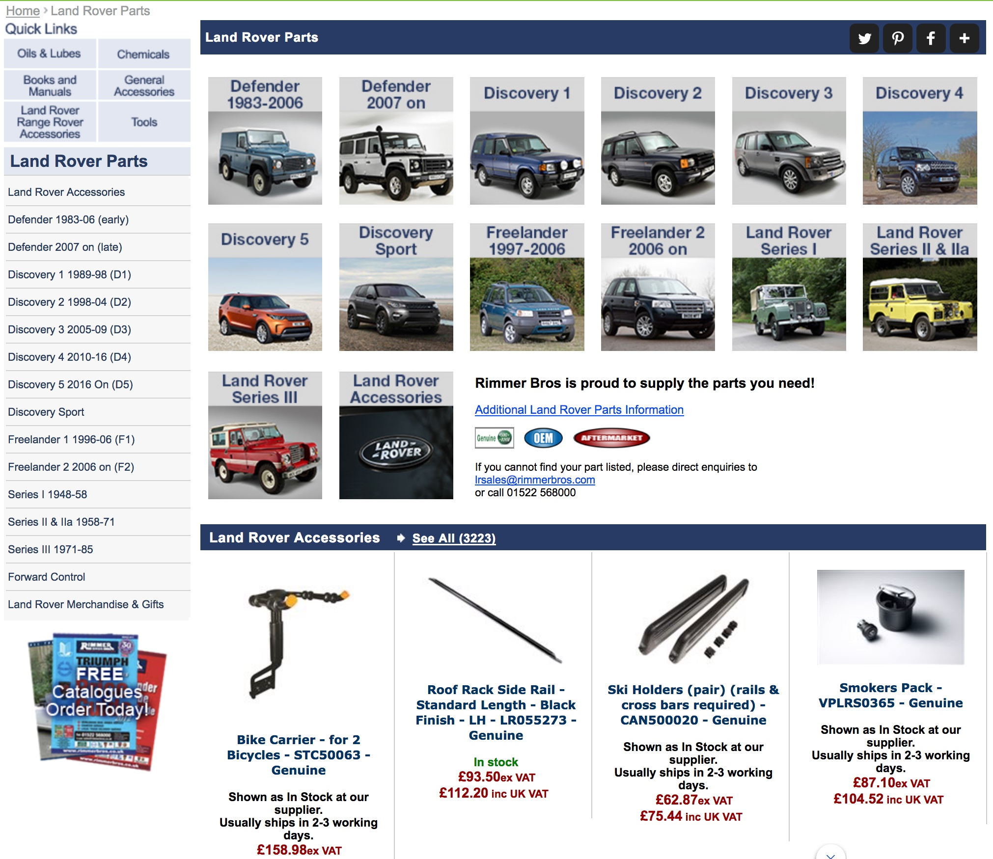 Rimmer Bros Land Rover Parts Specialists